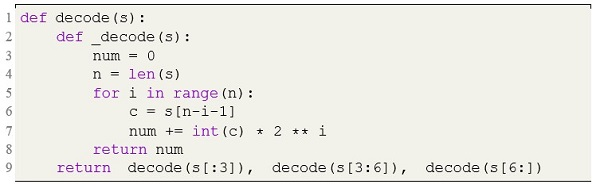 Decoding a binary string