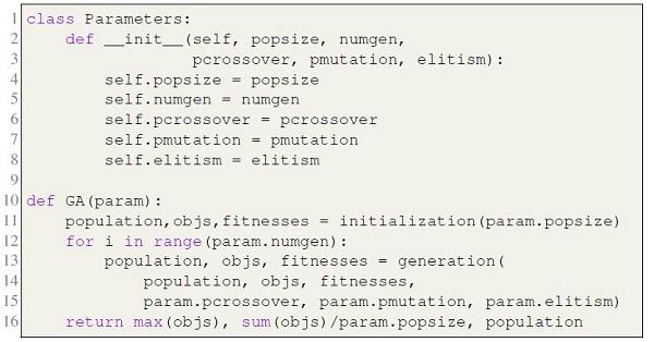 GA and Parameters