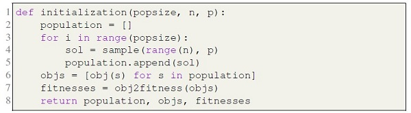 Initializing population for the p-median problem
