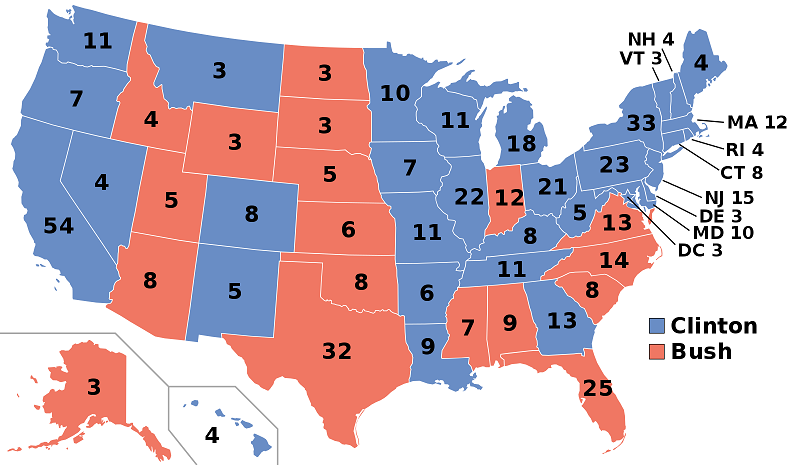 1992 Election Results State Level Presidential Results