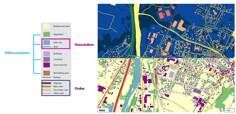 semantic relationships cartographic themes