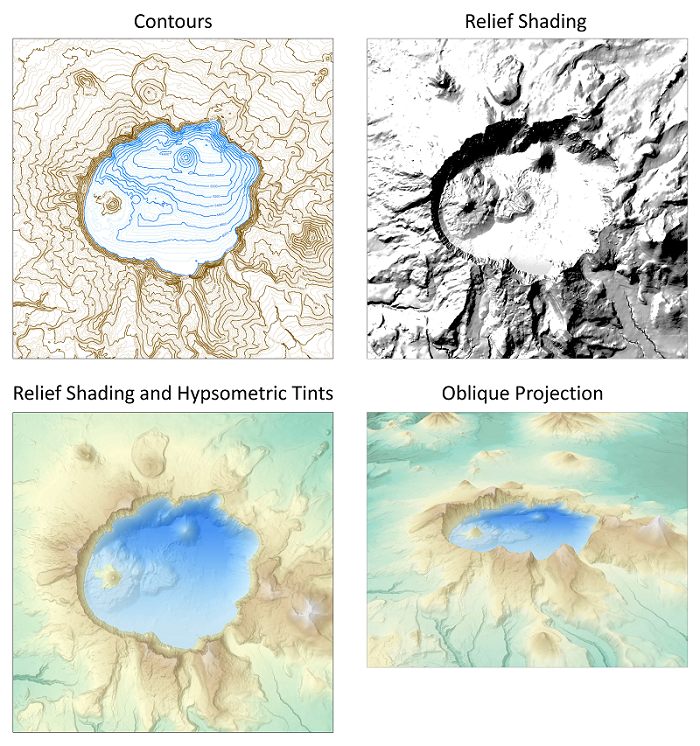 alternative methods for cartographically representing terrain