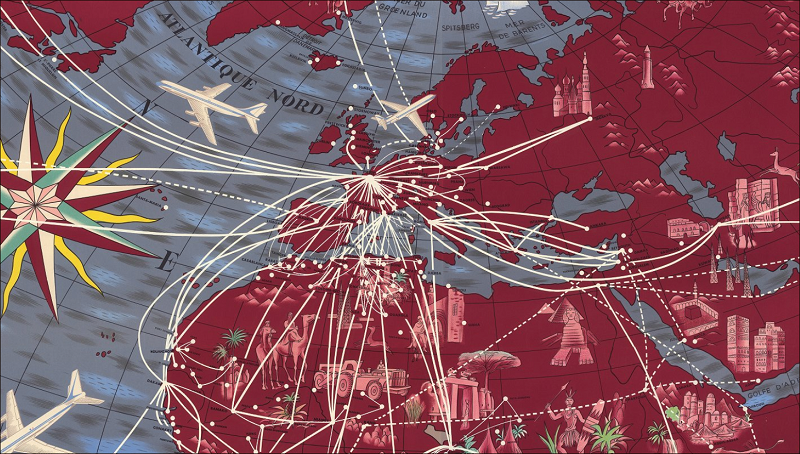 Air France route maps 1930s