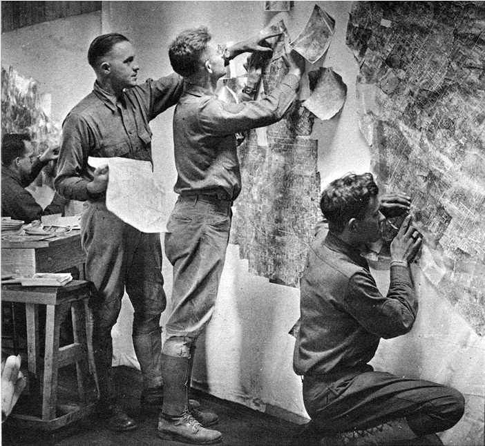 mosaic mapping circa 1930