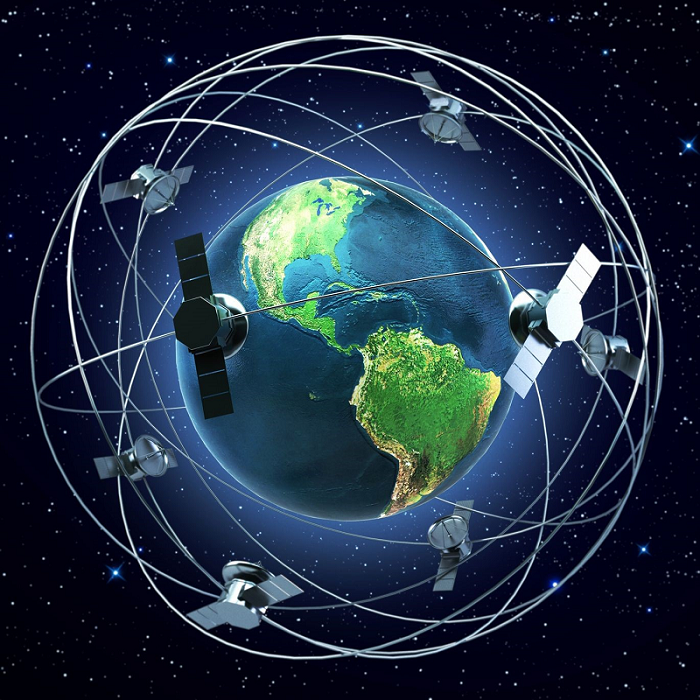 orbiting satellites
