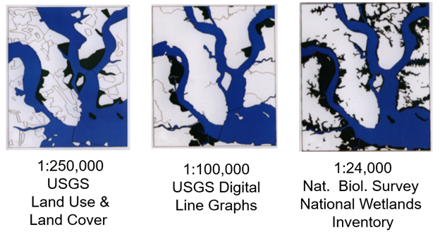 wetland delineations from different federal databases