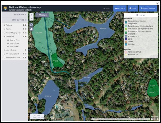 Wetlands Inventory Mapper