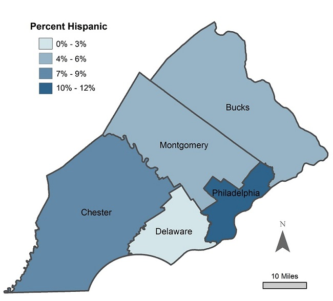 Hispanic Population Counties