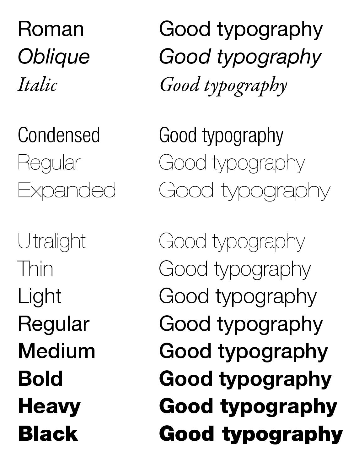 Typography Variations