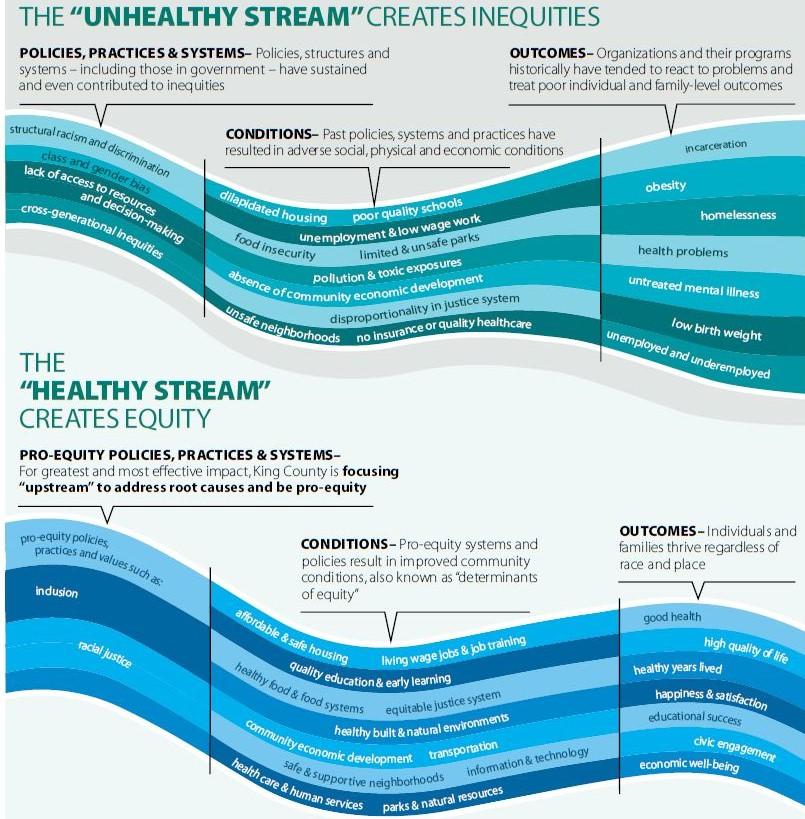 Unhealthy and Healthy Streams of ESJ