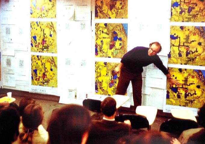 Carl Steinitz teaching early geodesign at Harvard University circa 1968