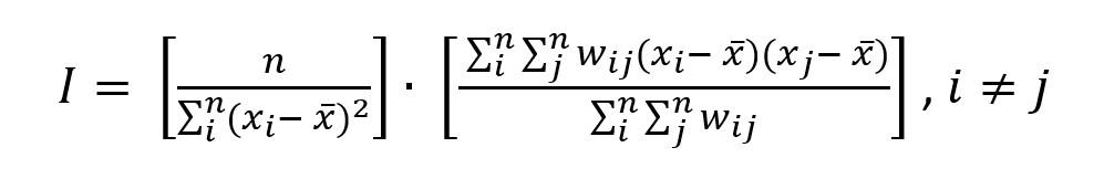 Moran's I equation